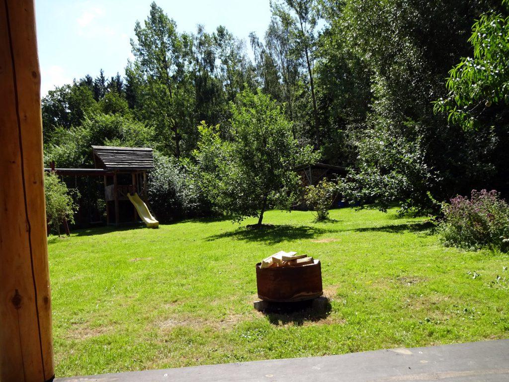 Ferienhaus Garten Lagerfeuer