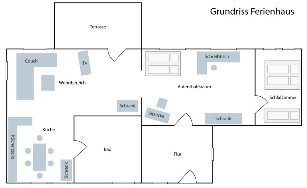 Grundriss Ferienhaus Lehmannsbrück